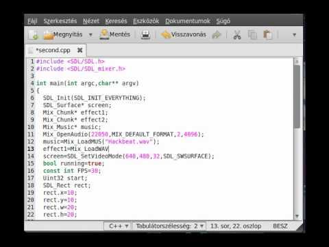 SDL tutorial 12 - sound with SDL_mixer