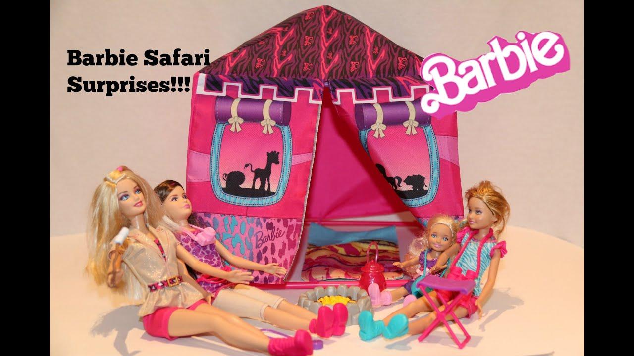 Barbie Sisters Safari Tent + Surprise Eggs u0026 Toys Opening!  sc 1 st  YouTube & Barbie Sisters Safari Tent + Surprise Eggs u0026 Toys Opening! - YouTube