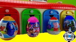 Huevos Sorpresa en la estación de TAYO con Patrulla Canina, Super Wings y Rayo McQueen