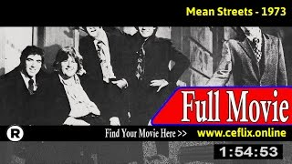 Mean Streets (1973) Full Movie Online
