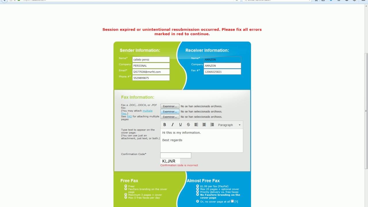 desbloqueo cuenta amazon méxico y envío de fax gratis youtube