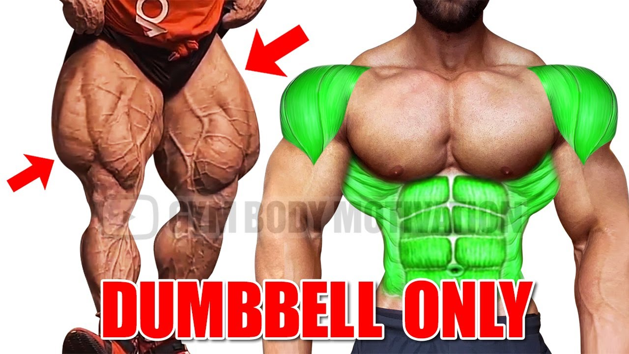 SHOULDERS, LEGS and ABS WORKOUT WITH DUMBELLS ONLY