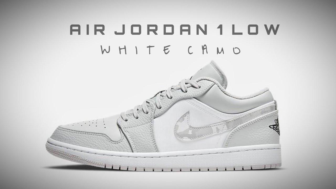AIR JORDAN 1 Low WHITE CAMO 2020 DETAILED LOOK