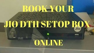 jio dth registration  jio dth set top box booking online