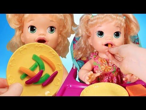 Играем в Куклы и Пупсики. Новая Кукла Беби Элайв Катя Распаковка. Игрушки для девочек Зырики ТВ