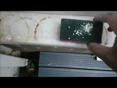 How to clean rust mark from PVC window frame