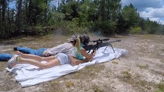 10 Year Old GIRL Shoots 50 Cal. BMG!