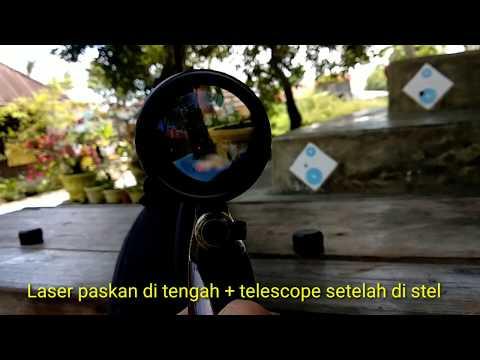 Menyetel teleskop dengan laser black sniper cara zeroing teleskop