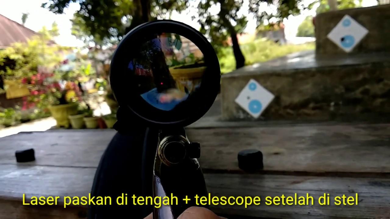 Menyetel teleskop dengan laser cara menyetel teleskop youtube