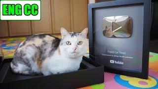 YouTubeから銀の盾が届きました!有難うございました(=^・ω・^=)【Eng CC】