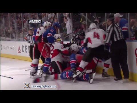 Matt Carkner vs Brian Boyle Apr 14, 2012