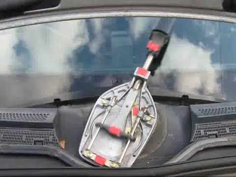 Windshield Wiper Motor >> ベンツ1本ワイパーのしくみ - YouTube