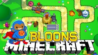 BLOONS TOWER DEFENSE IN MINECRAFT!