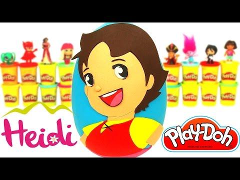 Huevo Sorpresa Gigante de Heidi en Español de Plastilina Play Doh