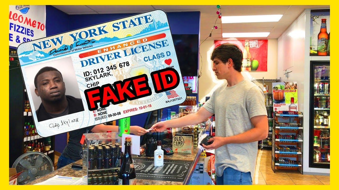 USING A FAKE ID (LOOKS NOTHING LIKE ME!)