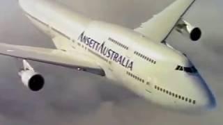 Ansett Australia Boeing 747 International.1995 Staff 'Reaching Higher' Video.