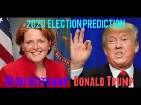 2020 Election Prediction | Donald Trump vs Heidi Heitkamp