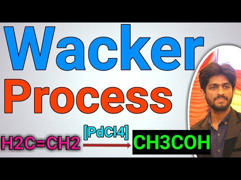 Wacker Process | Mechanism Discription In Hindi | Urdu | Conversion Of Alkenes To Acetaldehyde
