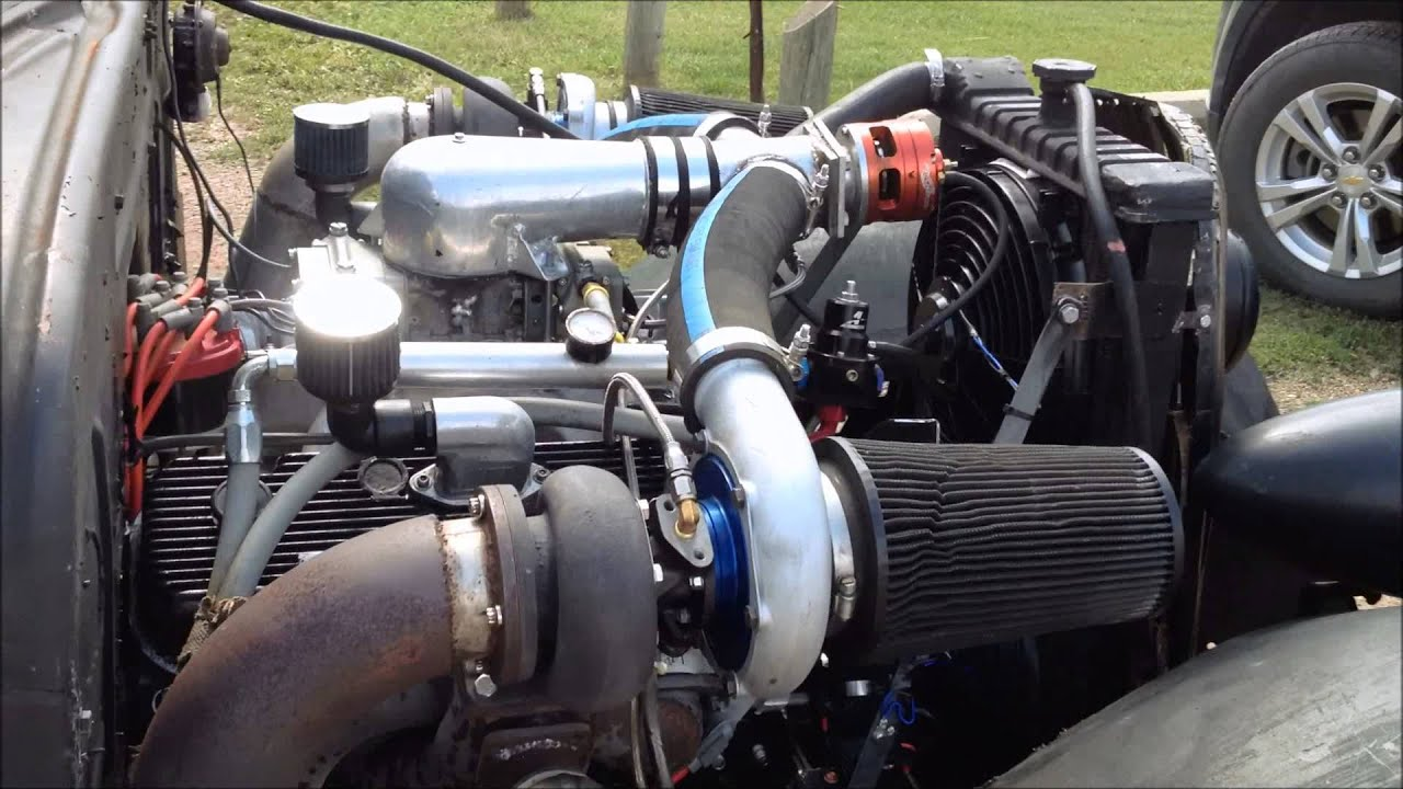 Chevy Diesel Truck Twin Turbo V8 Rat Rod - YouTube