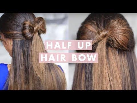 Half-up Hair Bow Cute Hair Tutorial