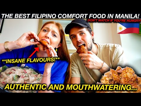 Trying TRADITIONAL FILIPINO COMFORT Food in Manila!