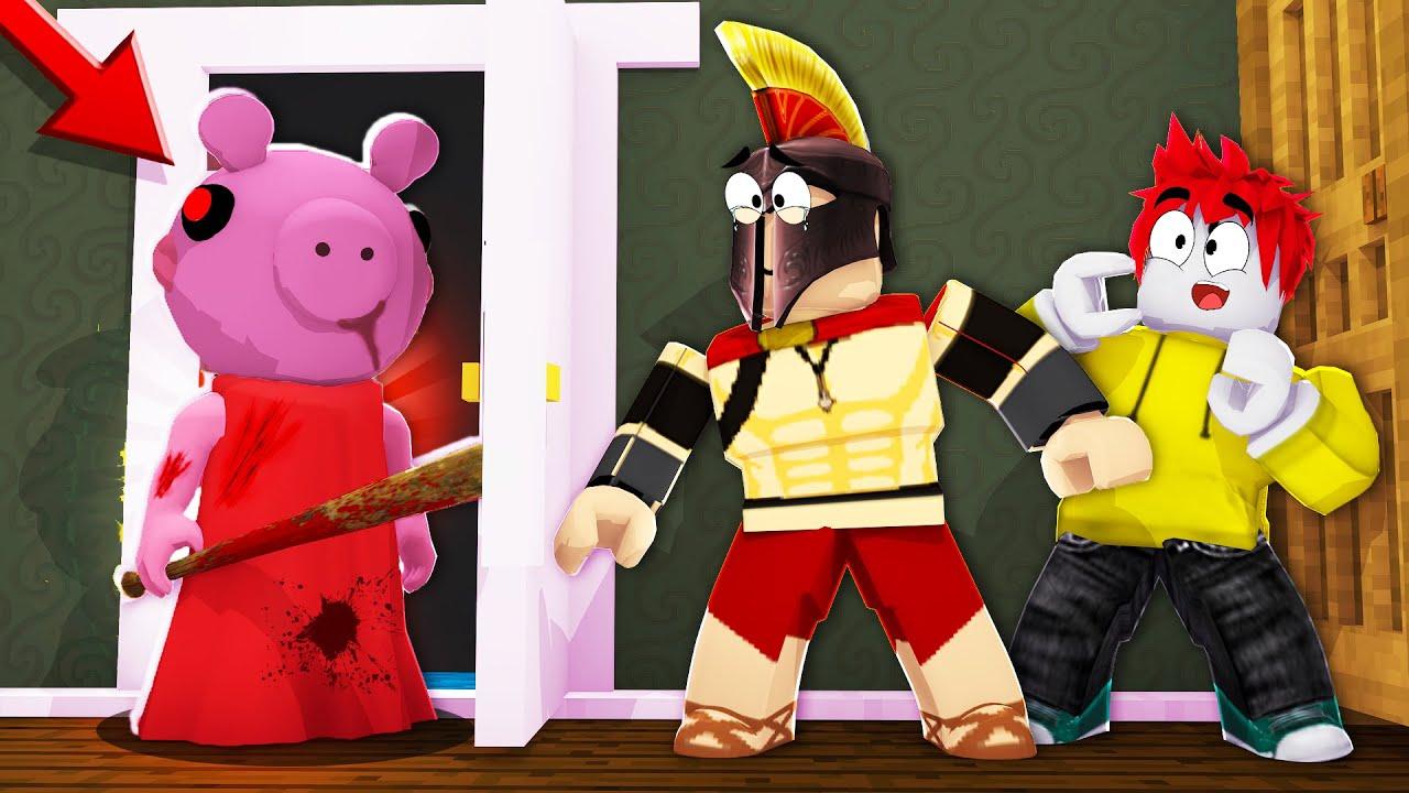 Imposible Escapar De Piggy Peppa Pig Nos Persigue En La Casa De Granny Roblox Youtube