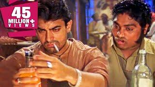 दारु पीने के बाद हुआ आमिर खान और जॉनी लीवर के बीच शायरी का मुकाबला | बॉलीवुड का ज़बरदस्त कॉमेडी सीन