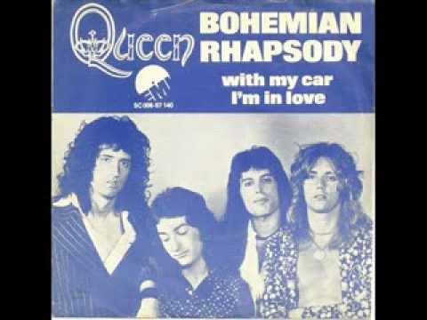 Resultado de imagem para Queen – Bohemian Rhapsody / I'm In Love With My Car (single, 1978)