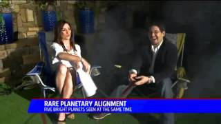 Planetary Alignment Interview - San Diego 5 News - StarDude Astronomy