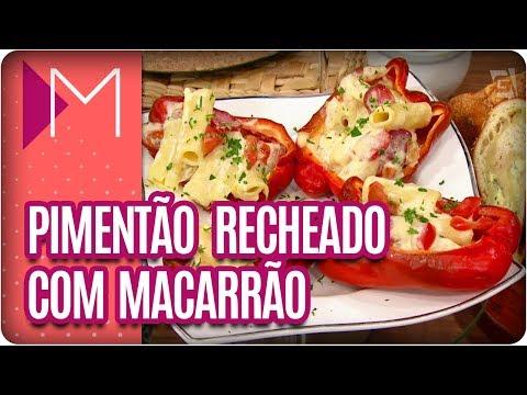 Pimentão recheado com macarrão - Mulheres (23/03/18)