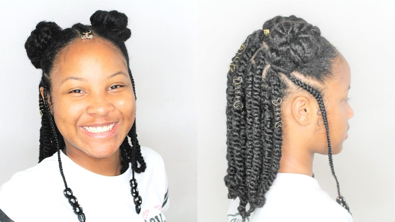 afro puffs & rope twists