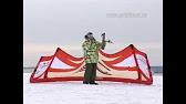 Зимний кайт, парафойл Велосити в слабый ветер - YouTube