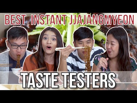 BEST JJAJANGMYEON INSTANT NOODLES | Taste Testers | EP 82