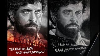 SUPER 30 Poster Realistic Drawing - ft. Hrithik Roshan