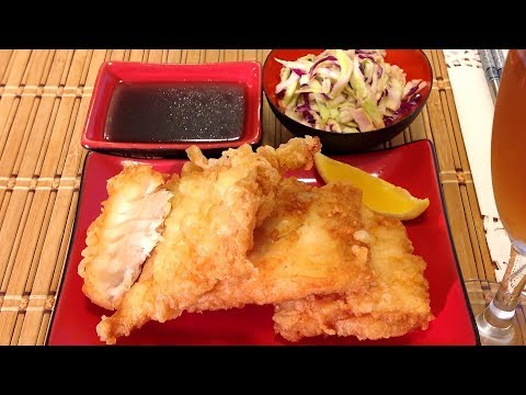 Cooking Fried Tempura Fish-How To Batter And Fry Cod Fillet-Japanese Recipes
