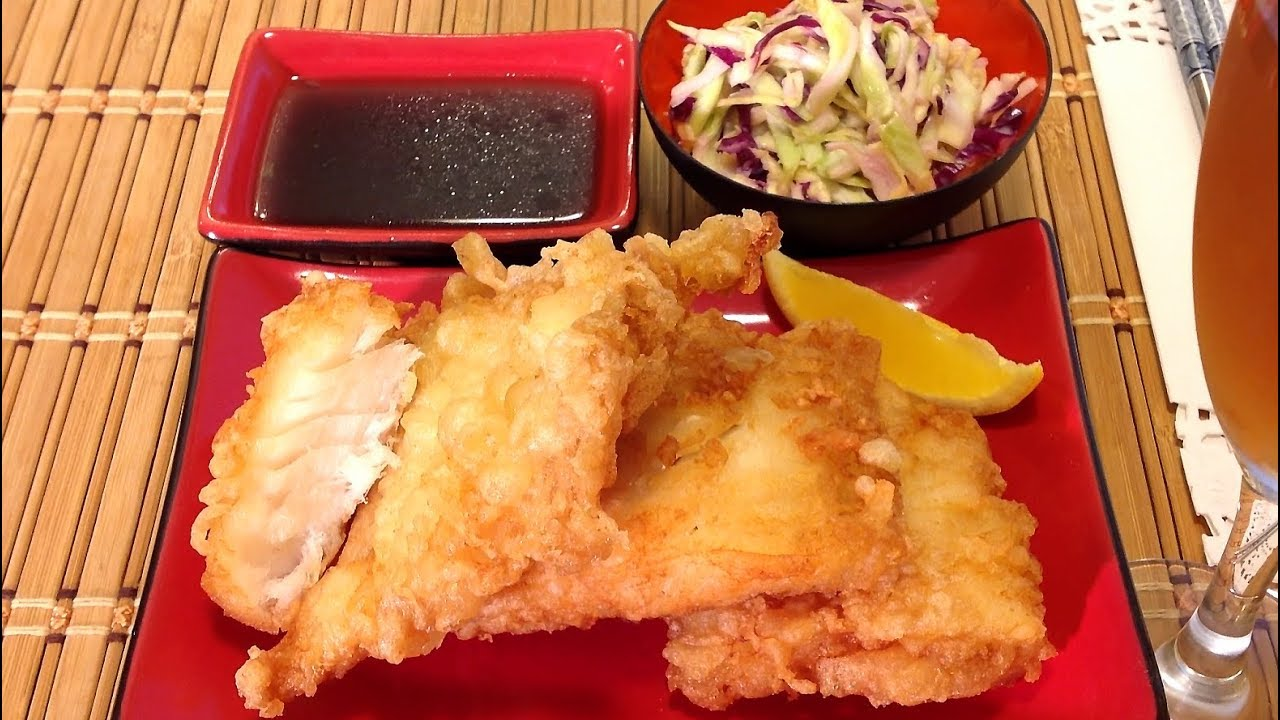 Cooking Fried Tempura Fish How To Batter And Fry Cod Fillet Japanese Recipes Youtube