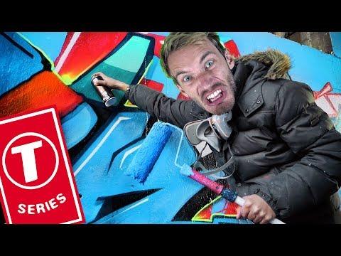 PewDiePie Painting GRAFFITI To STOP T-Series!