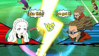 Inazuma Eleven GO Strikers 2013 Dark Chaos Angels vs Hacked 11 Wii