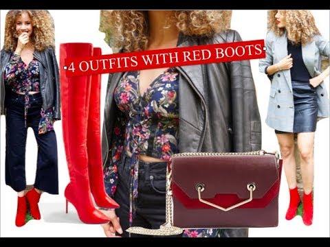 comment porter des bottines rouges autumn lookbook n 1 youtube. Black Bedroom Furniture Sets. Home Design Ideas