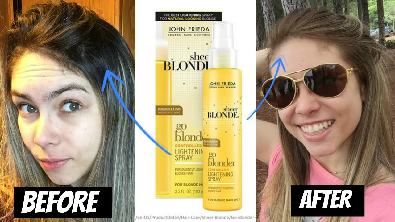 John Frieda Go Blonder Lightening Spray Review With