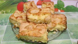 шарлотка по новому / Творожный пирог с яблоками #ШАРЛОТКА