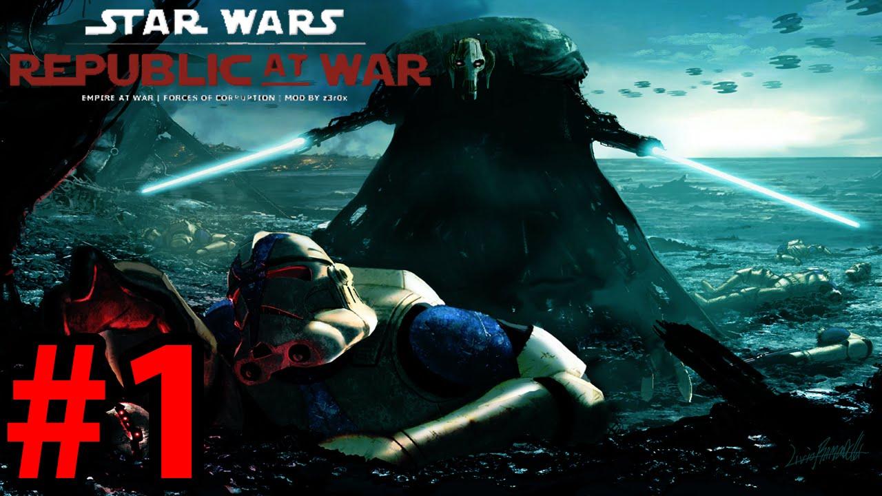 Star Wars Republic at War as Confederacy Part 1 Count Dooku`s Beard