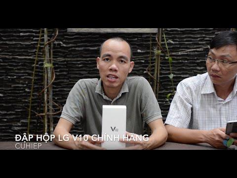 Đập hộp LG V10 chính hãng