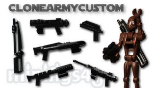 LEGO Star Wars CloneArmyCustom Weapons Wave 1 Review