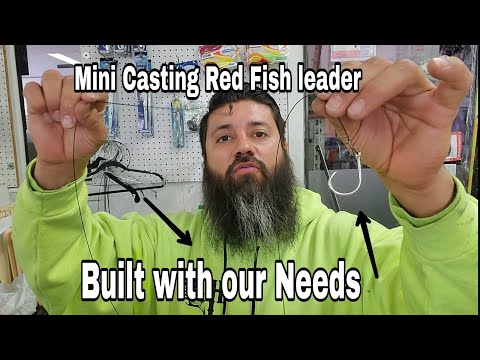 Making Mini Casting Red Fish Leaders