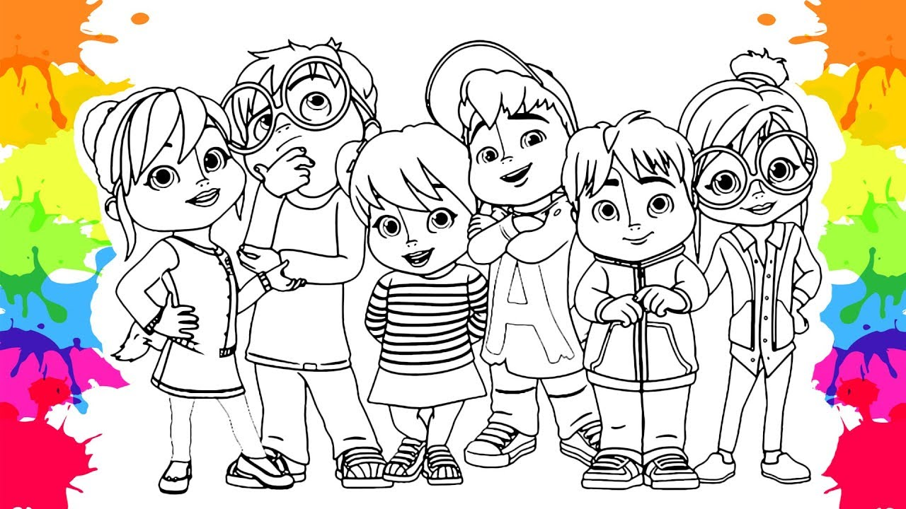 - Alvin And The Chipmunks, Alvin Coloring Pages For Kids - YouTube
