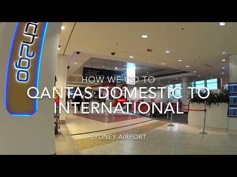Qantas Domestic To International Terminal In Sydney