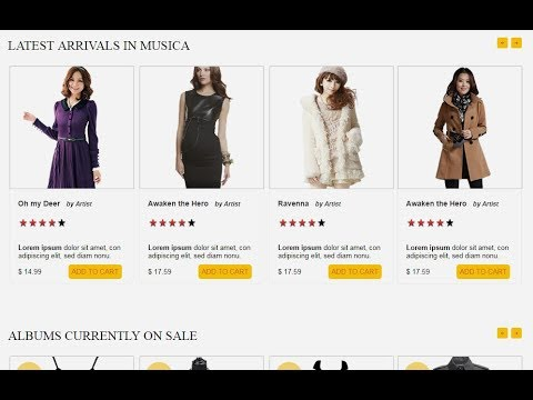 How to Create Ecommerce Website HTML CSS  with Slider Part-1