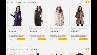 Het Maken van e-Commerce Website HTML-CSS met Schuifregelaar Deel-1