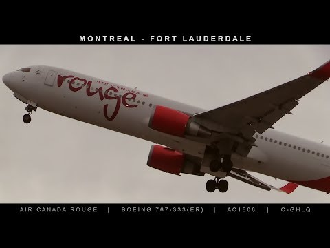 Boeing 767-300 Take Off from Montreal to Fort Lauderdale Flight AC1606